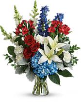 Colorful Tribute Bouquet Arrangement