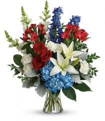 colorful tribute bouquet sympathy