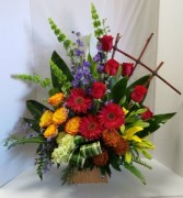 Colorful Tribute Sympathy Arrangement
