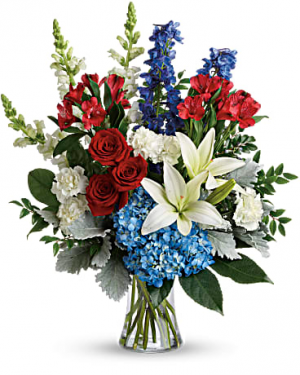 Colorful tribute T282-2A  in Fort Worth, TX | DAVIS FLORAL DESIGNS