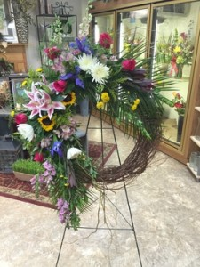 Colorful Tribute T&V Original in Appleton, WI | TWIGS & VINES FLORAL