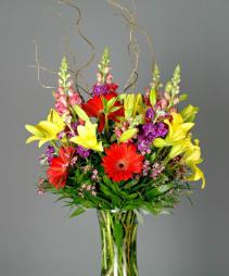 Colorful Tribute Vase Arrangement