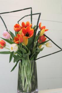 Colorful Tulips Fresh Arrangement
