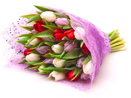Colorful Tulips Hand tired bouquet **Limited Offer**