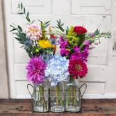Colorful Vintage Crate Crate Arrangement