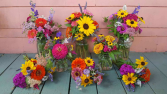 Colorful Wedding Bouquets and Centerpieces