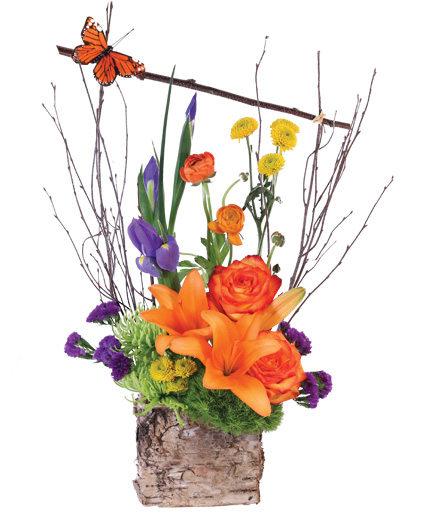 Colorful Woodland Floral Arrangement