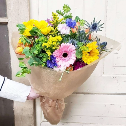 Colorful Wrapped Bouquet Pick-Up Only