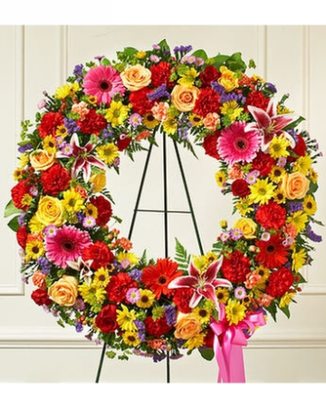 "18"" Colorful Wreath Spray"