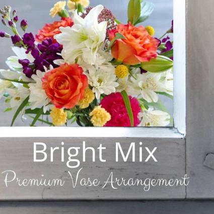Premium Vase- Colorful Flowers