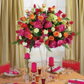 COLORFULL TALL CENTERPIECE WEDDING