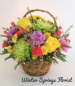 Colorfulness Basket Design  in Winter Springs, FL | WINTER SPRINGS FLORIST AND GIFTS