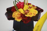 Colors in Black  Birthday flowers