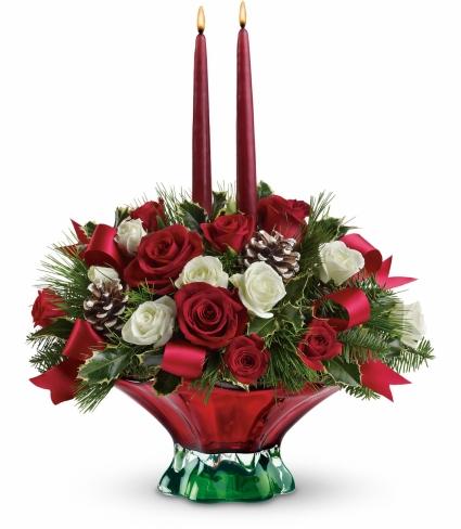 Colors of Christmas Floral Centerpiece