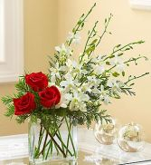 Colors of Christmas Vase arrangement