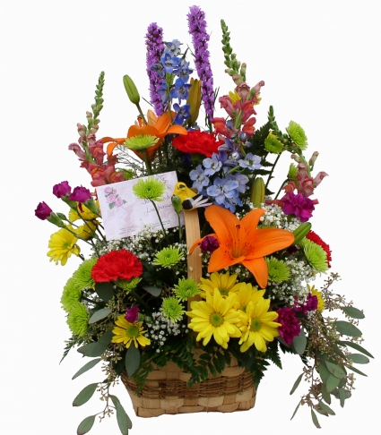 Colorful Expression Basket Arrangement