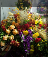 Colors of Fall casket spray