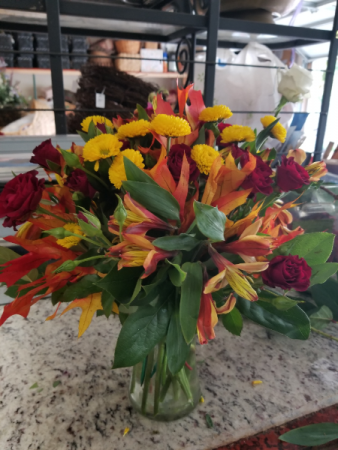 Colors of fall Vase