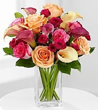 Colors of Love Chic and Stunning Flower Bouquet