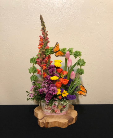Colors of Spring Keepsake Tin Arrangement