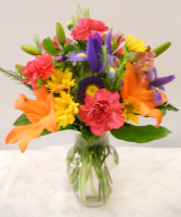 Colors of the Rainbow vased arrangement