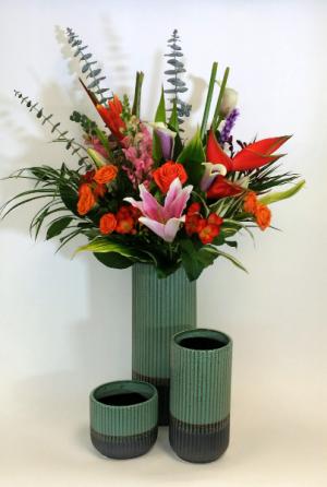 Colour Extravaganza Designer's Vase Arrangement in Delta, BC | FLOWERS BEAUTIFUL