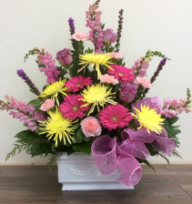 Colourful condolences Funeral tribute
