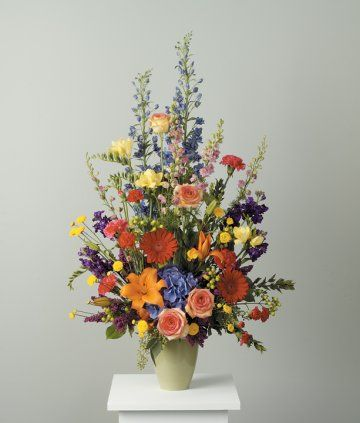 Colourful Floral Arrangement Sympathy