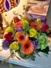 Colourful Floral Cube Design
