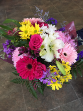Colourful Mixed cut Bouguets Cut Flowers no vase