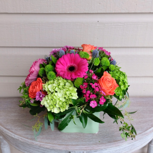 Colourful Spring Vase in Surrey, BC | Hunters Garden Centre And Flower Shop