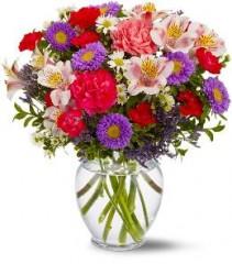Colourful spring vase Vase Arrangement
