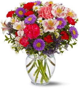 Colourful spring vase Vase Arrangement