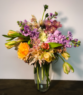 Colourful Spring Vase Arrangement