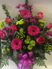 Colourful Sympathy Deluxe Vase Arrangement