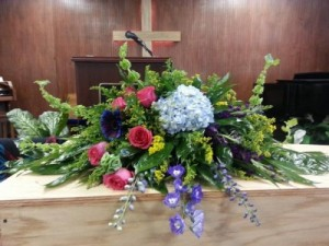 Come to the Garden casket spray in Bryson City, NC | VILLAGE FLORIST & GIFTS
