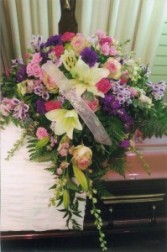 Comfort and  Peace Sympathy Spray Casket spray