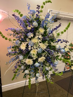 Comforting Blue and White