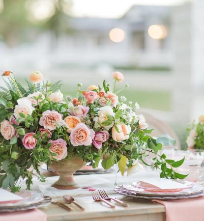 Compote Vase Arrangements Wedding Centrepeices