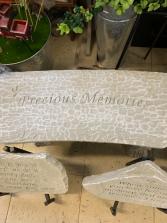 Concrete bench