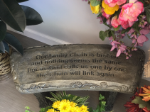 Concrete Bench - Our Family Chain Gift/Sympathy