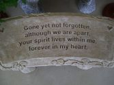 "Concrete Bench ""Gone yet not forgotten"""