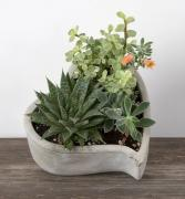 Concrete Love Succulent Planter