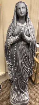 Concrete Madonna Statue
