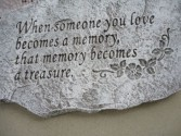 "Concrete Stepping Stone ""When someone you love"""