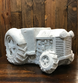 Concrete Tractor Planter  in Yankton, SD | Pied Piper Flowers & Gifts