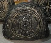 Concrete Tribute Stone - Police Gift/Sympathy