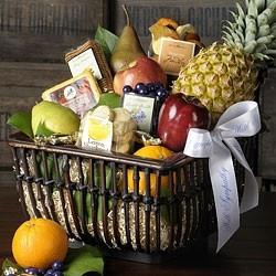 CONDOLENCES FRUIT BASKET Large Fruit Basket plus Healthy Snacks
