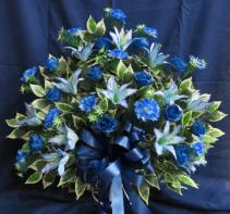 Condolences Silk Funeral Basket Silk Arrangement