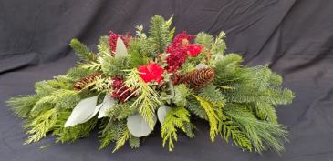 Cones and Berries Christmas Arrangement